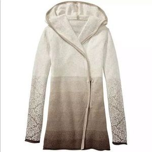 Athleta Ashlee Beige Ombre Hooded Sweatshirt